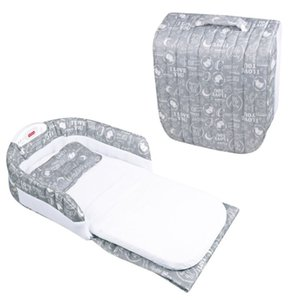 Cloth ABS Plastic Cotton Material Mattress Baby Bed Half Encirclement Portable Folding Multi-Function With Music Night Light Bed