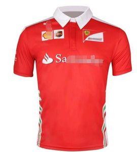 Patlama F1 Ferrari takım fanı giysi Ferrari Kimi Raikkonen kısa kollu tişört yarış takım elbise polyester malzeme nefes p çabuk kuruyan
