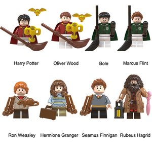 Harry Potter Hermione Granger Ron Weasley Bole Marcus Flint Rebeus Hagrid Seamus Finnigan Oliver Wood Mini Toy Action Figure Building Block