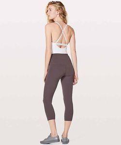 LU-35 Taille Haute Femmes yoga repousser les limites rapide et féroce cultures Sport aligner Élastique Fitness Leggings mince Courir Gym sept points pantalon