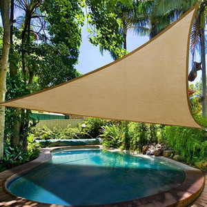 Waterproof Triangular Shade Sail Garden Patio UV Sun Protection Swimming Pool Lawn Canopy Awning For Outdoor Camping Picnic Tent