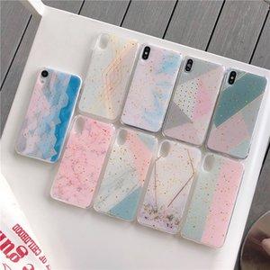 Yeni geldi Mermer Desenler Telefon Kılıfı için iPhone XS Max XR X 8 7 6 Artı Altın Varak Yumuşak Silikon Bling telefon kılıfları