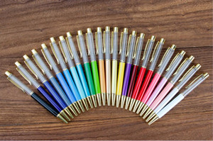 فارغة كريستال الماس أقلام حبر جاف بريق ستايلس لمس القلم للكتابة القرطاسية المدرسية مكتب قلم بالبن أسود أزرق