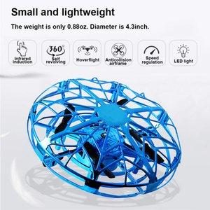 Presentes inteligentes Gesto Indução UFO Mini Quadrotor Sensing aeronaves voando inteligente helicóptero de brinquedo RC Drone Para Crianças crianças Xmas