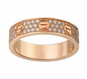 Calidad superior diseño clásico de la marca de plata / color oro rosa plateado amantes anillo de la banda de boda no se desvanece para mujeres hombres tamaño 5-10