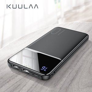 KUULAA Ultra-thin Digital 10000mAh Portable Charging Mobile Power Bank USB PoverBank External Battery for Tablet Samsung Xiaomi IPhone