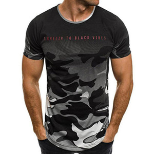 Personality T-shirts men T Shirt Short Sleeve Camouflage T Shirt Mens Tees O-Neck Military Camouflage T shirt Men Tops