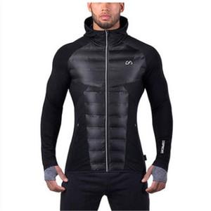 autumn and winter new style jirouxiongdi running warm jacket fitness sports mens training hooded cotton-padded jacket fashion clothing