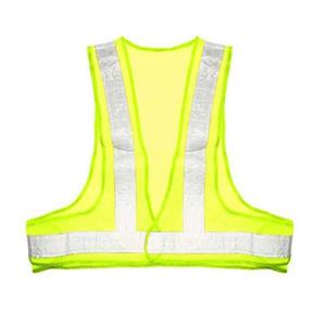 Vêtements de travail du trafic Waistcoat Gilet réfléchissant à rayures visibilité Stationnement Mesh jour Tissu Construction Bancs de sécurité Veilleur de nuit
