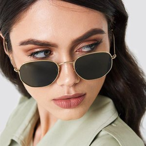 Square Metal Multilateral Sunglasses Men'S Women'S Universal Fashion Colorful Out Of The Street Wild Sunglasses Tide JZdfX