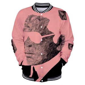 Moda-Karl Dijital Kapüşonlular Tek Breasted Sweatshirt Sıcak Lagerfeld Tasarımcı Uzun Kollu RIP Beyzbol Uniform yazdır