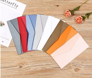 2020 Cheap Free Shipping Wetern Pearl Paper Multiple Colour Chinese Pocket Wedding Invitation Card Romantic Envelopes