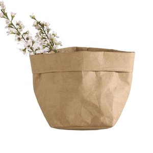 Kraft Paper Bags Flower Pots Washable Storage Pack Not torn Decoration succulent Planters Customizable OEM Free shipping