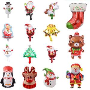 15 stili di nuovo mini albero di Natale del pupazzo di neve di Natale Partito palloncini palloncini decorazione di Natale Bambini Giocattoli alluminio Balloon