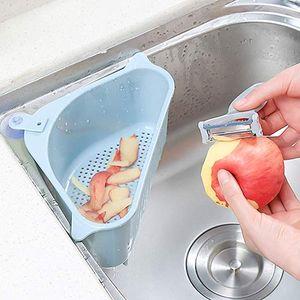 Mutfak Üçgen Lavabo Süzgeç Drenaj Sebze Meyve Damlalıklı Basket Emme Kupası Sünger Depolama ToolSink Filtre Raf Raf