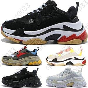 Paris vintage sneakers, Triple S men women casual dad shoes triple black white grey mens stylist sneakers trainers US 5.5-11