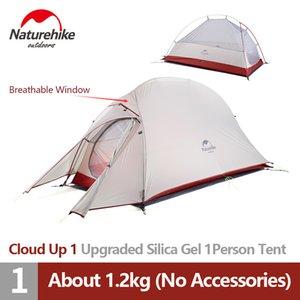 Tenda Naturehike Aggiornamento cloud Up1 tenda da campeggio 20D alluminio silicone Pole Ultralight 1 Persone Four Seasons Tourist