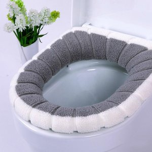 Fuzzy Soft Toilet Seat Cover Nordic Toilet Mat Warm Winter Cushion Home Bathroom TB Sale