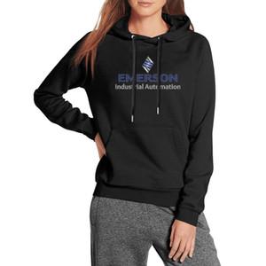 Frauen Emerson Industrial Automation übergroßen Sweatshirt Taschen-Baumwollsport Hoodie