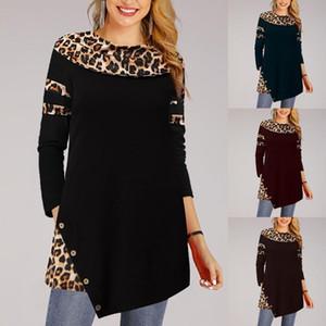 Леопардовая блузка женская теплая с длинным рукавом леопардовая толстовка свободные плюс размер пуловер топы блузка blusa feminina 2020