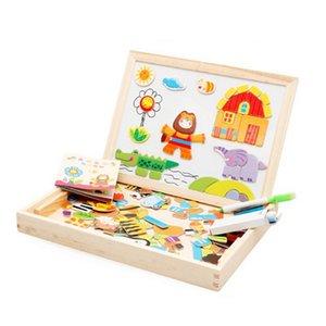 1Pcs Giocattoli per bambini Puzzle magnetici per bambini Ragazze Ragazzi Apprendimento Educazione Giocattoli in legno 3d Puzzle Animali Tavolo da disegno come regali