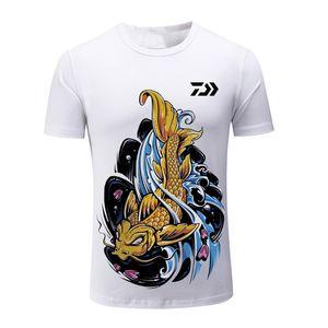 2020 Yeni Daiwa Balıkçılık Clothings Hızlı Kuru Güneş Koruma Balıkçılık Gömlek Anti-UV Giyim Balıkçılık Kısa Kollu Sport Tişört