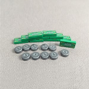 10 Ad / set MOC Oyuncak Tuğla Legoingly Şekil Aksesuarları Altın madeni para USD Altın Tuğla Yapı Taşları DIY Çocuk Oyuncakları Hediye