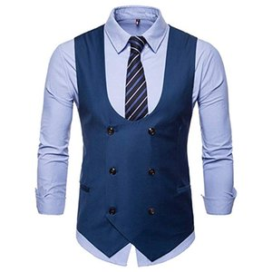 Mens Slim Fit Dress Vest Formal Premium Button Down Vest Mens Vest Waistcoat Great for casual formal occasion wear