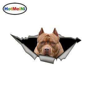 Großhandels3d Brown amerikanische pitbull Autoaufkleber Funny Pet Dog Aufkleber Wasserdichtes Styling Vinyl Dekoration