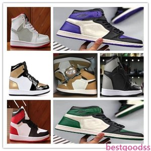 1s High OG Rookie Of The Year Pine Green Court Purple 1 Shadow basketball shoes Bred Toe Game Royal Sports Sneakers free shippment