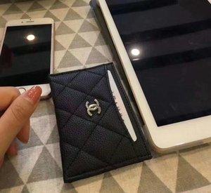 La bolsa bolso de la tarjeta de crédito de marca al por mayor de la mejor calidad mejor precio Cartera de cuero de regalo portátil titular de la tarjeta de visita de cuero real de la moneda del monedero VIP