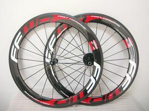 KIRMIZI FFWD F6R tekerlek seti 60mm Powerway hızlı ileri karbon bisiklet tekerlekleri karbon yol tekerlek seti düğüm noktası / tübüler