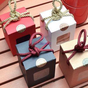 Оконная коробка крафт-бумага подарочная коробка медовый джем чай коричневый сахар коробка