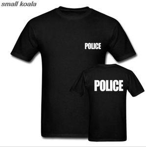 Polícia de Guarda POLÍCIA T-shirt Sheriff Bouncer do partido do evento T shirt legal Tops Camiseta Euro Tamanho Y200104