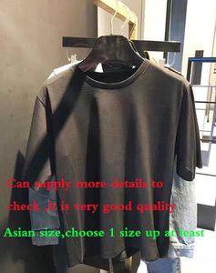 2020SS mode Lettre fourreau de courte coton Casual T homme Chemises slim femme taille S-XXL d'Asie