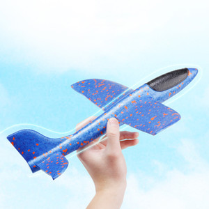 48CM Hand Throw Foam Plane Toys Outdoor Decompression Launch Glider airplane Kids Gift Gag Toy Fly Plane Toys Puzzle Model Jouet