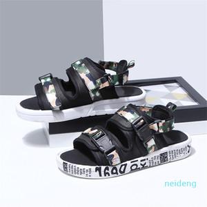 Hot Sale-Chinelos Sandal Grosso Parte inferior da mulher Verão Movimento sapatos respirável de malha de fios Meninas dedo do pé aberto Sandals Casual