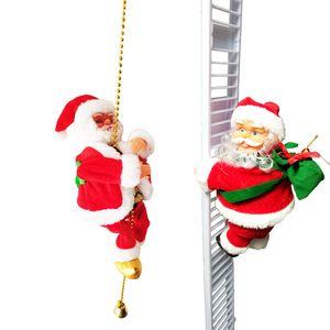 Presentes de Natal criativos escalada Decoração de Natal Bead Rope Papai Noel Kid Toy Santa bonito elétrica Noel Atacado DBC VT1063