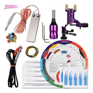 Machines Professional Set Pro Kit Pen Gun Motor Professional Complete Tattoo Kit Gun Machine Rotary Accessories Kits Pen Tattoo