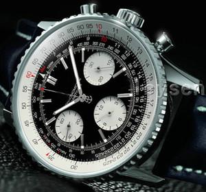 Relógios Self-vento dos homens de couro preto Top Fashion Mecânica Mens Stainless Steel Movimento automático Assista Negócios Esportes