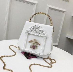 donne di marca fabbrica del sacchetto dolce e bella decorazione angelo di modo delle donne della borsa del cuoio letteratura tendenza pacchetto catena e arte delle donne