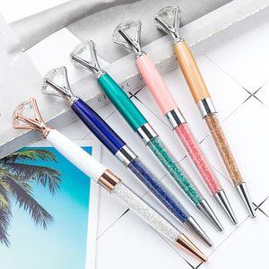 Bunter Diamantstift Big Crystal Pen Diamant Kugelschreiber Kugelschreiber Kugelette ölig Rotat Twisty Black Refill Free DHL