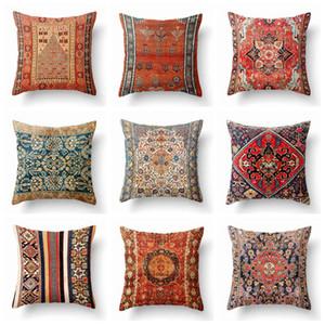 потертый шик винтажный стиль бохо чехлы домашнего декора диван бросьте наволочку этнических Марокко cojines