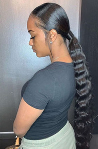 Хорошее ruivew право волнистые индийские хвост наращивание волос для волос в свободную глубокую волну черные волосы пони хвост для черных женщин 140 г цветов