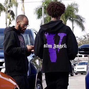Sudaderas para hombres y mujeres de alta calidad de algodón grandes letra V de impresión de la llama de la moda con capucha suelta sudadera hip hop nueva streetwear