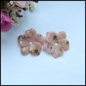 Natural Pink opal Woman fashion Earring Beads,Semiprecious stone jewelry Earring,29x28x5mm,6.3g
