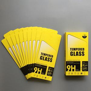 Pacchetto al dettaglio di carta per iPhone XS X 8 7 6S Plus Pellicola proteggi schermo in vetro temperato Samsung da 6 pollici Spedizione gratuita