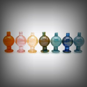 Latest Colorful Pyrex Thick Glass Bong Hookah Smoking Handmade Waterpipe Cover Quartz Carb Cap Bubble Ball Top Oil Rigs Accessories DHL Free