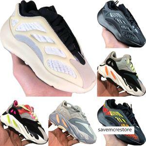 Avec Boîte Azaël 700 V3 statique réfléchissant Enfants Mesh respirant Running Shoe Originals Kanye West 700 V2 Enfants Tampon en caoutchouc Chaussures de sport