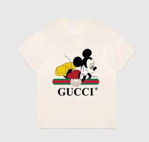 marca de diseñador de la marca de 2-9 años de edad del bebé de las muchachas de las camisetas 2020 del verano de los niños del algodón Tops Tees Ropa niños 2 colores el envío libre